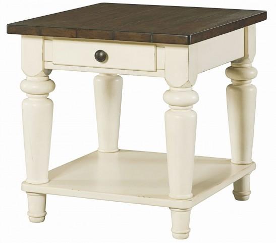 Heartland Smoky Brown Rectangular Drawer End Table