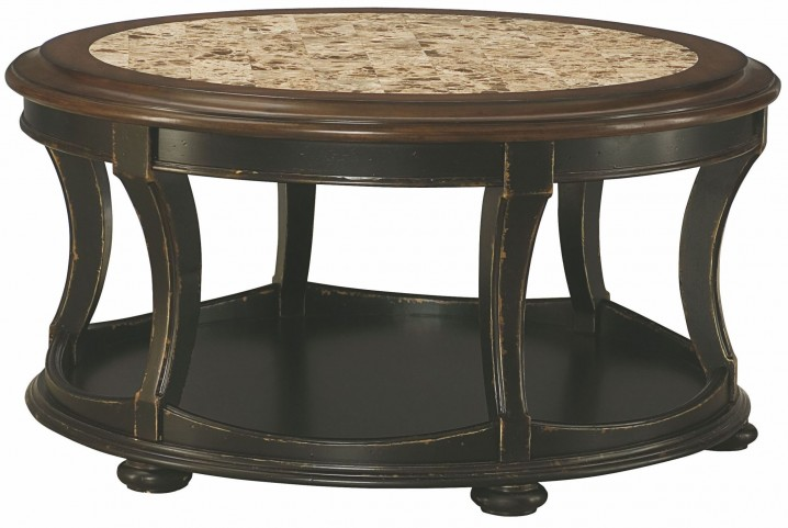 Dorset Black Round Cocktail Table