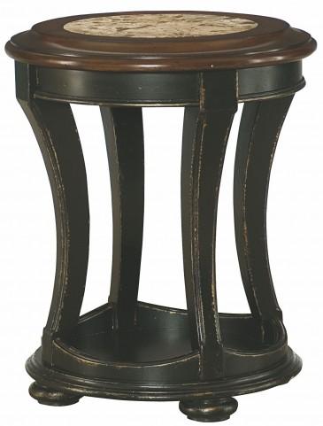 Dorset Black Round End Table