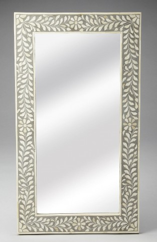 3479321 Gray Bone Inlay Wall Mirror