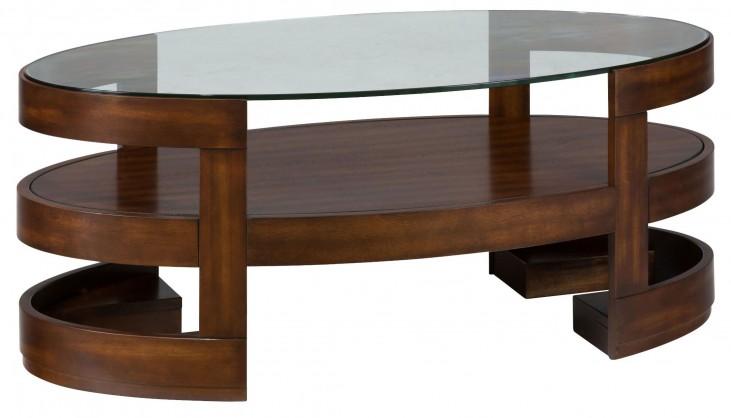 Avon Birch Oval Cocktail Table