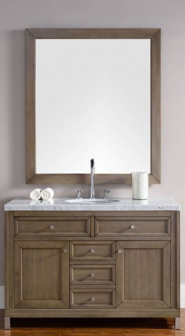 "Chicago 48"" White Washed Walnut Single 4Cm Top Vanity"