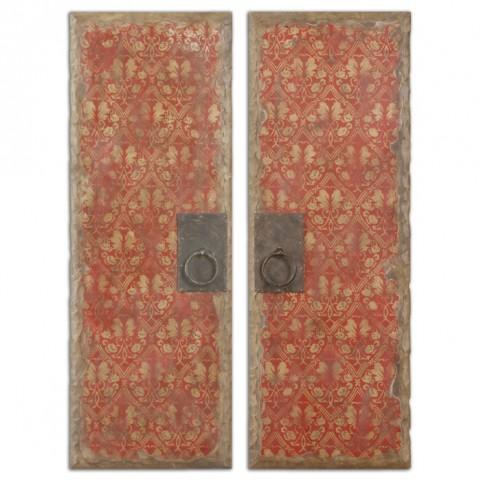 Red Door Panels Set of 2
