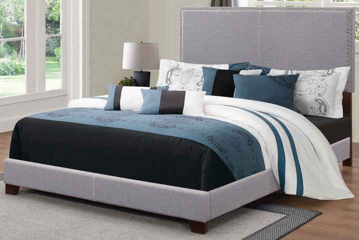 Boyd Grey Queen Platform Bed