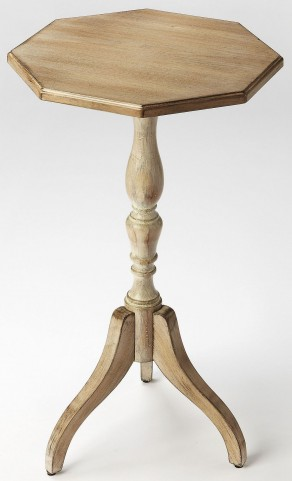 Archambault Driftwood Octagonal Pedestal Table