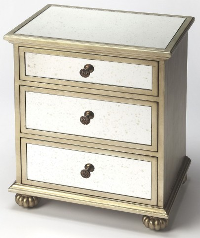 Grable Mirror & Silver Leaf Accent Chest