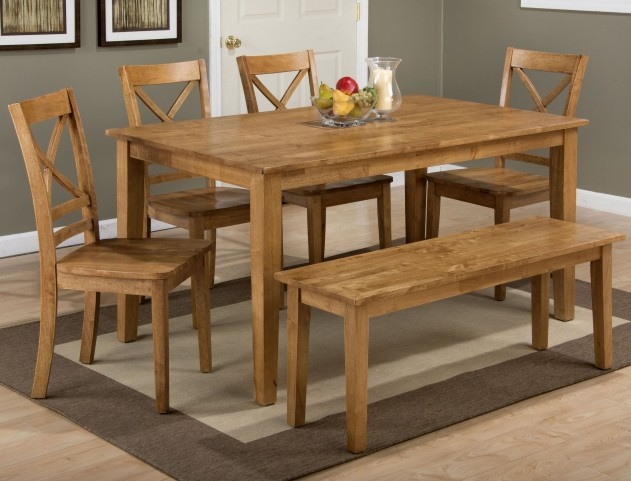 Simplicity Honey Rectangular Dining Room Set