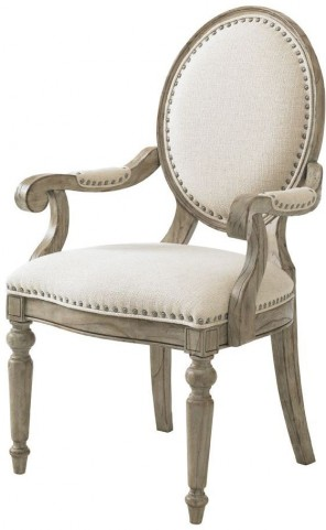 Twilight Bay Antique Linen Byerly Arm Chair
