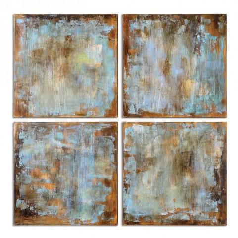 Accent Tiles Modern Art Set of 4