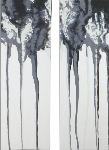 Storm Clouds Hand Painted Art Set of 2