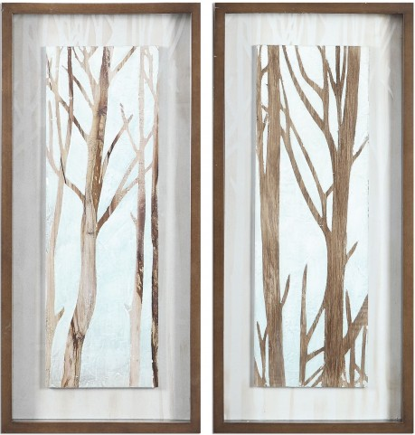 Tree Focus Shadow Box Set of 2