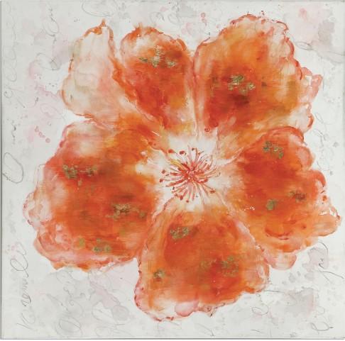 Crushed Orange Floral Art