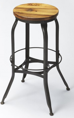 Industrial Chic Black Bar Stool