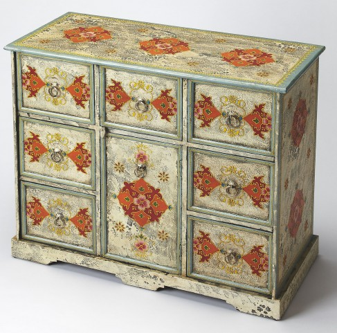 Artifacts Hand Painted Accent Chest