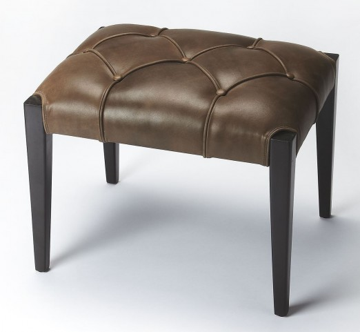 Butler Loft Leather Bunching Ottoman