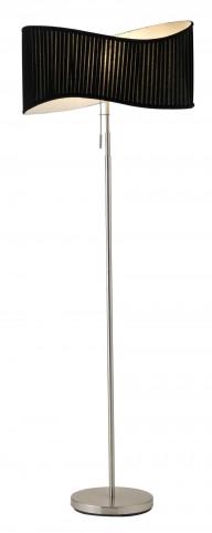 Symphony Satin Steel Floor Lamp