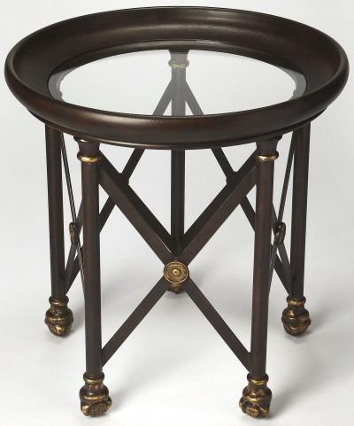 Richton Glass & Metal Lamp Table