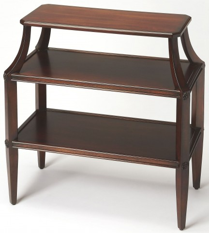 Appleton Plantation Cherry Tiered Console Table