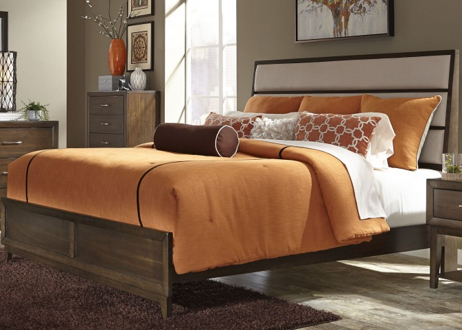 Hudson Square Espresso Queen Panel Bed