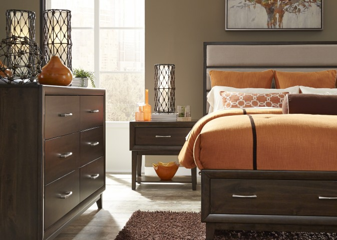 Hudson Square Espresso Panel Storage Bedroom Set