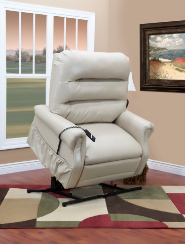 36 Series Three-Way Reclining Lift Chair Apollo - Ivory Vinyl