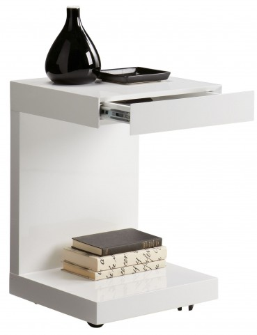 Bachelor White High Gloss Tv Table