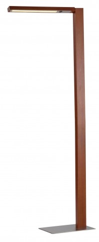 Linden Dark Walnut Led Floor Lamp