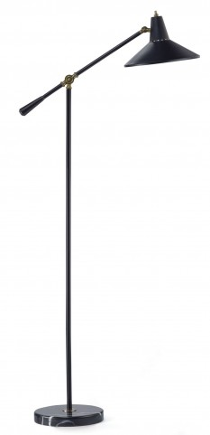 Nelson Black Floor Lamp
