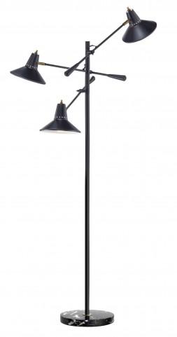 Nelson Black 3 Arm Floor Lamp