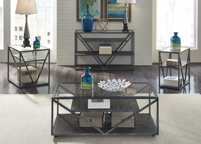 Arista Cobblestone Brown Occasional Table Set