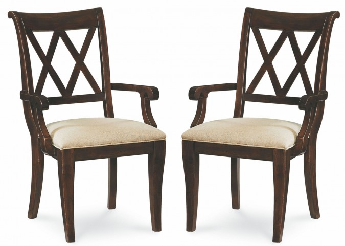 Thatcher X Back Arm Chair Set of 2