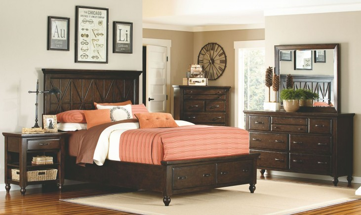 Thatcher Storage Footboard Panel Bedroom Set