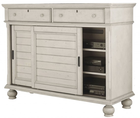 Newport Antique White Media Chest