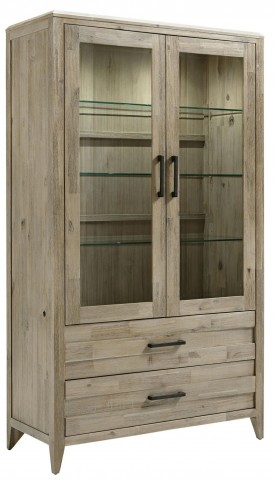 Harbourside Weathered Acacia 2 Drawer Curio Unit