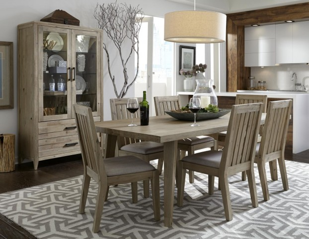 Harbourside Weathered Acacia Rectangular Dining Room Set