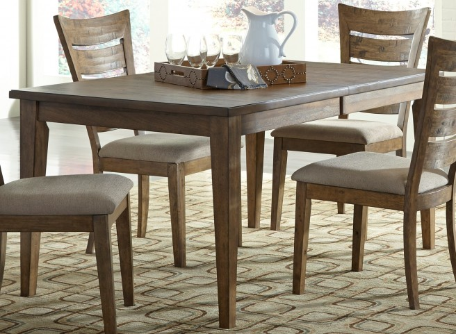 Pebble Creek I Weathered Butterscotch Extendable Rectangular Leg Table