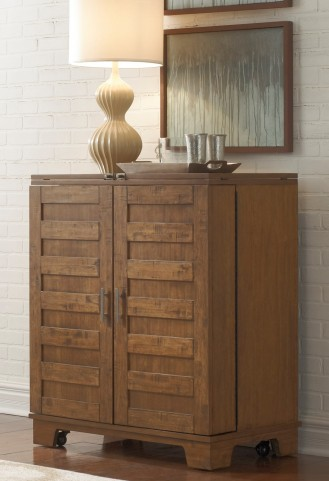Pebble Creek I Weathered Butterscotch Wine Cabinet