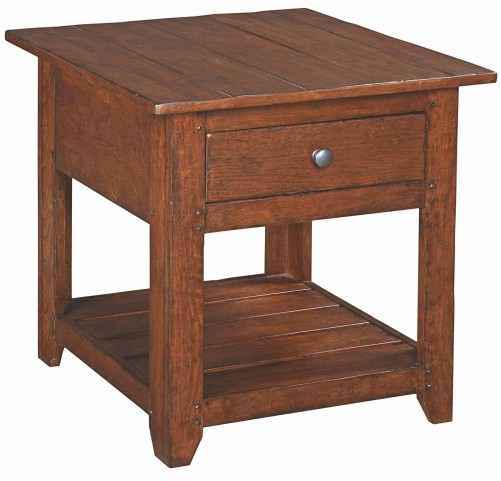 Homecoming Vintage Cherry Albemarle Drawer End Table