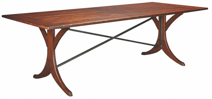 "Homecoming Vintage Cherry New River 94"" Dining Table"