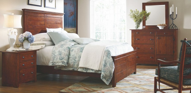 Homecoming Vintage Cherry Winchester Panel Bedroom Set