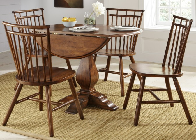 Creations II Drop Leaf Pedestal Dining Room Set