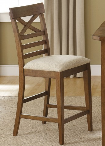 Hearthstone Rustic Oak X Back Counter Chair