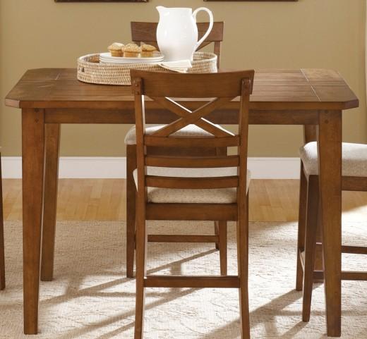 Hearthstone Rustic Oak Gathering Table