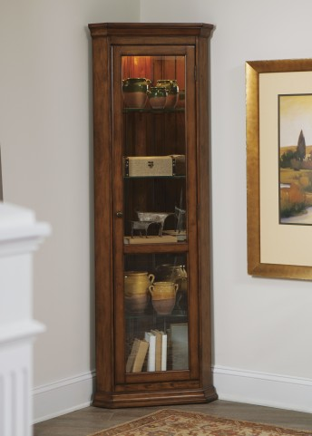 Hearthstone Rustic Oak Corner Curio