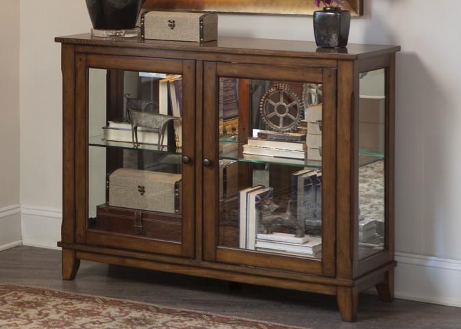 Hearthstone Rustic Oak Console Curio