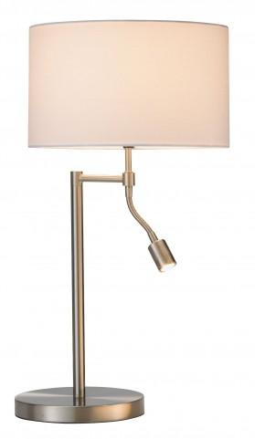 Ellery Satin Steel Combo Table Lamp