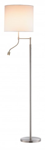 Ellery Satin Steel Combo Floor Lamp
