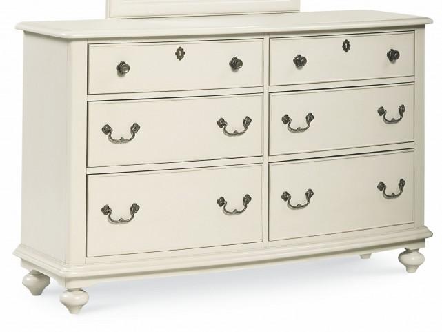 Inspirations Seashell White 6 Drawer Dresser