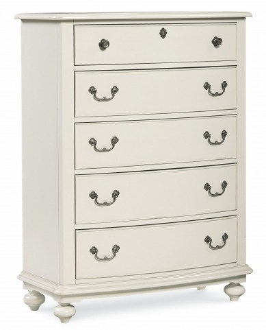 Inspirations Seashell White 5 Drawer Chest