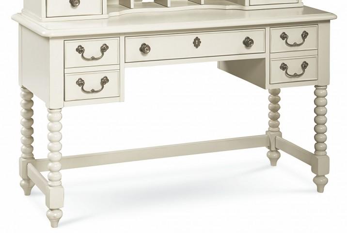 Inspirations Seashell White 3 Drawer Boutique Desk
